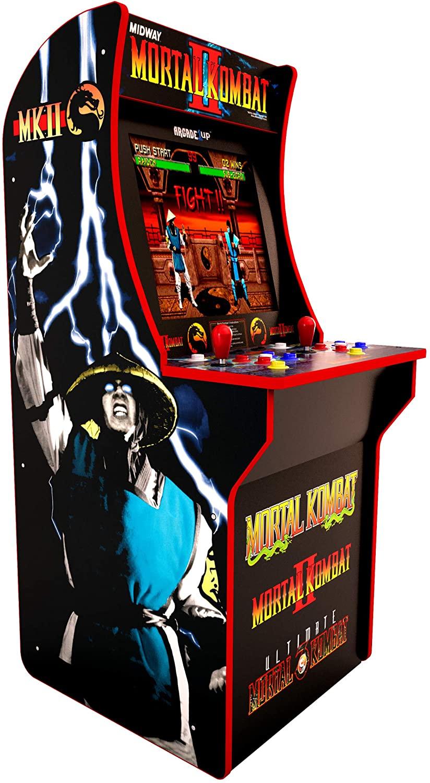 Borne de jeu d'arcade Evolution - Mortal Kombat, Street Fighter 2, Final Fight ou Pac Man (Avec Réhausseur pour 379.99€)
