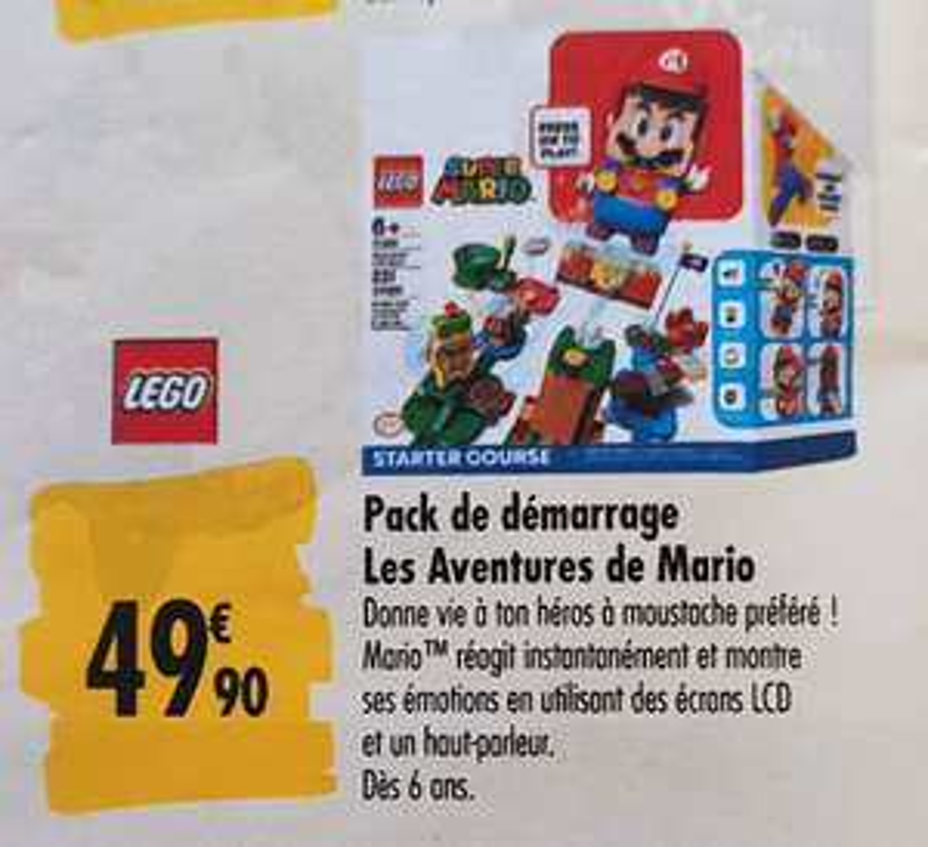 Pack de démarrage Lego Super Mario - Les Aventures de Mario (71360)
