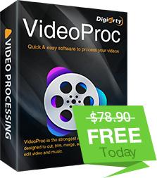 Licence pour le Logiciel VideoProc V3.8 Gratuite pour PC & Mac (Dématérialisé - videoproc.com)