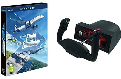 Flight Simulator sur PC + Honeycomb Aeronautical Alpha Flight Controls Yoke & Switch Panel