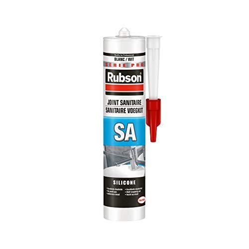 Mastic Sanitaire silicone acétique Rubson - 300 ml, Blanc