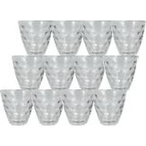 Lot de 12 gobelets en verre - 25cl