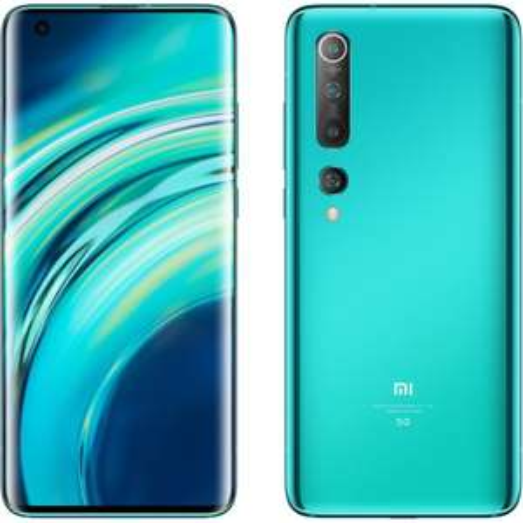 "Smartphone 6.67"" Xiaomi Mi 10 - full HD+, SnapDragon 865, 8 Go de RAM, 128 Go, 5G, Vert & Bleu"