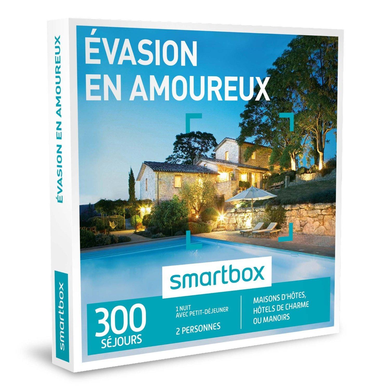 """Coffret Cadeau Smartbox """"Evasion en amoureux"""" 300 séjours : maisons d'hôtes, hôtels de charme ou manoirs"""