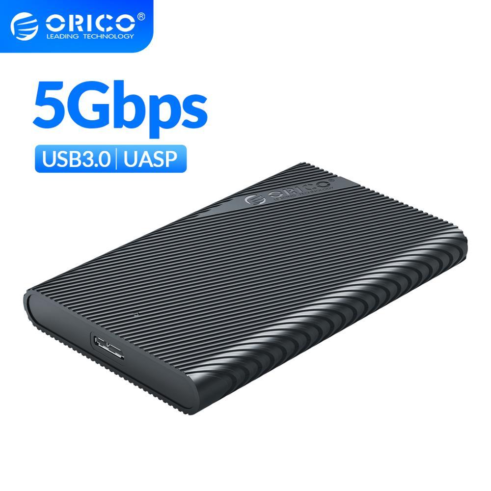 """Boîtier externe Orico 2521U3 pour HDD/SSD 2.5"""" - USB 3.0, UASP + Câble (Blanc ou Noir)"""