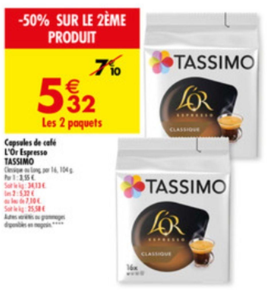 Lot de 2 paquets de 16 capsules Tassimo L'OR (2x16 capsules) - Via BDR