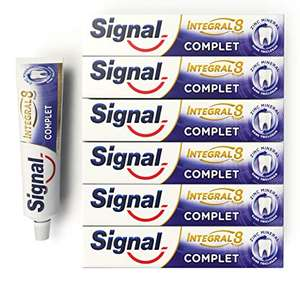 Lot de 6 tubes de dentifrice Signal Integral 8 Complet (6x75ml)