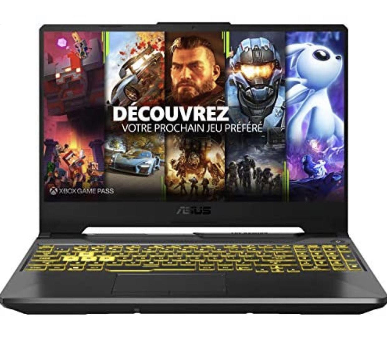 """PC portable 15.6"""" Asus TUF A15-TUF566IU-AL117T - FHD 144 Hz (FreeSync), Ryzen 7 4800H, 16 Go RAM, 512 Go SSD, GeForce GTX 1660 Ti,"""