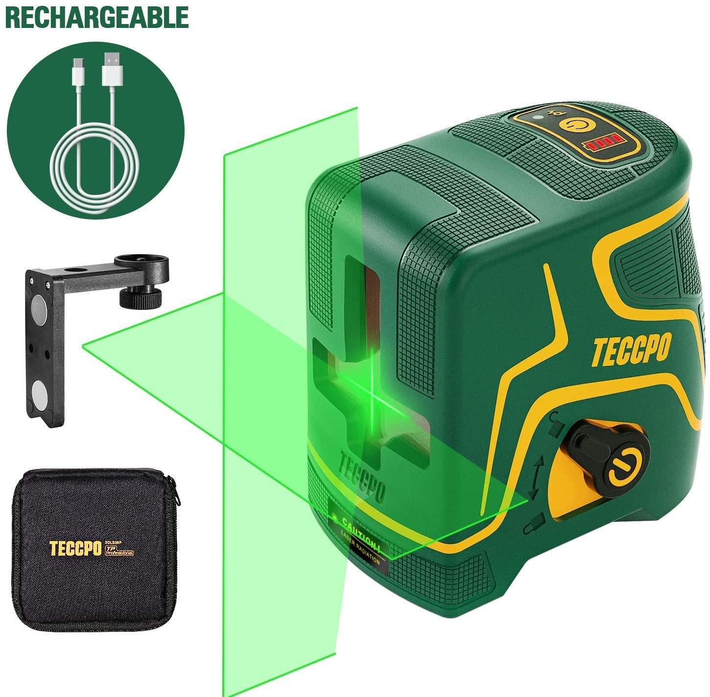 Niveau Laser en croix Teccpo - 30m, USB Charge (vendeur tiers)
