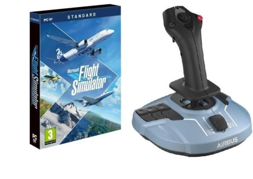 Pack Microsoft Flight Simulator 2020 sur PC + Joystick Thrustmaster TCA Airbus Edition