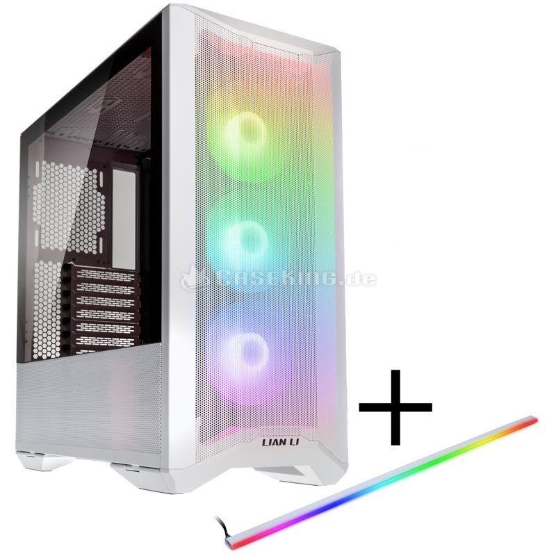 Boitier PC moyen tour Lian li Lancool II Mesh RGB (Blanc ou noir) + Bande LED RGB Lancool II-2x