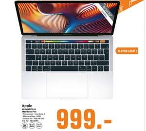 """PC Portable 13.3"""" Apple Macbook Pro 13 Retina (2019 - MUHN2FN/A) - Core i5, 8Go RAM, 128Go SSD, Azerty (Frontaliers Luxembourg)"""