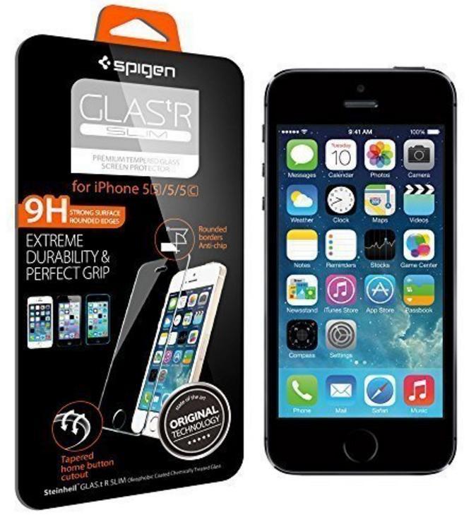 [Panier Plus] Protection Verre Trempé Spigen pour iPhone 5/5s/6/6s