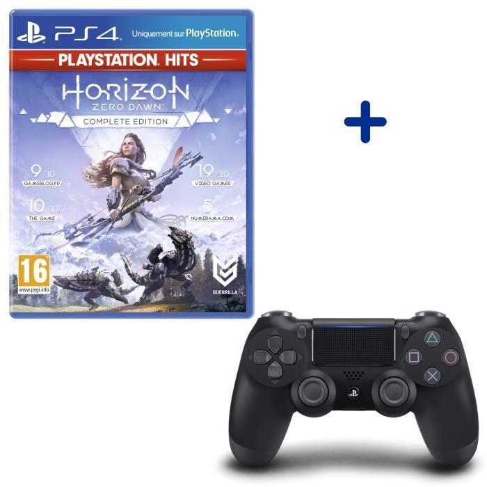Sélection de Pack Manette PS4 Dualshock V2 + 1 jeu : Ex: Manette PS4 + Horizon Zero Dawn Complete Edition
