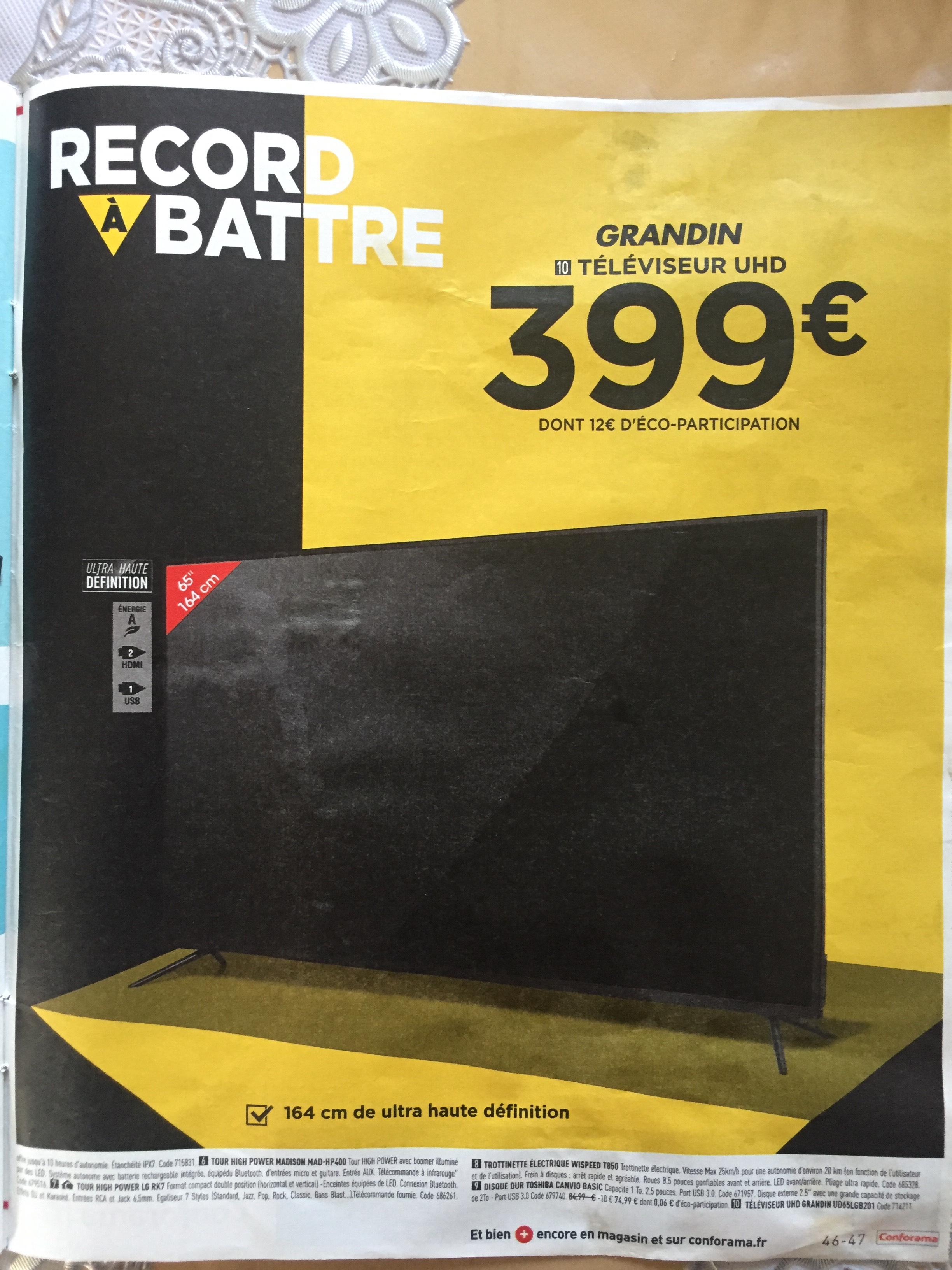 """TV 65"""" Grandin UD65LGB201 - 4K UHD, LED"""