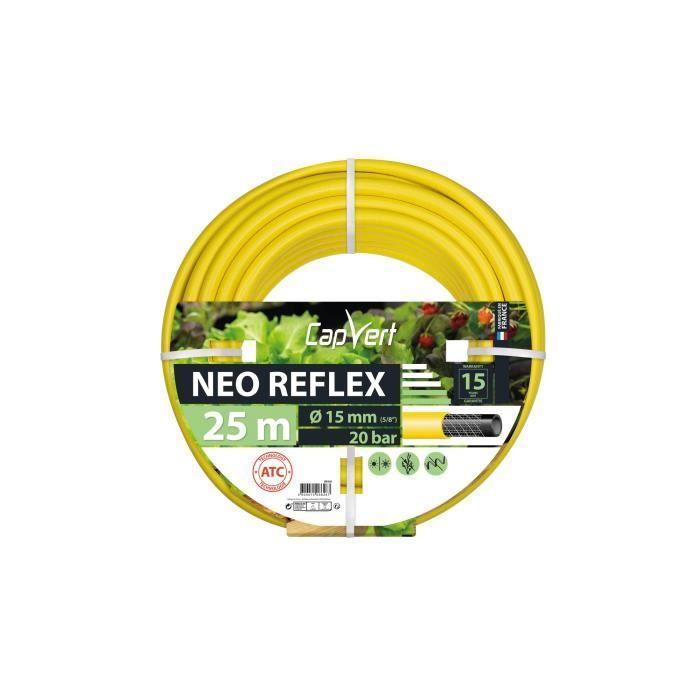 Tuyau d'arrosage Néo Reflex Cap Vert - Diamètre 15 mm, Longueur 25 m