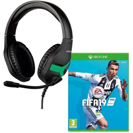 Casque-micro gaming filaire Konix Nemesis pour Xbox One + Jeu FIFA 19 sur Xbox One