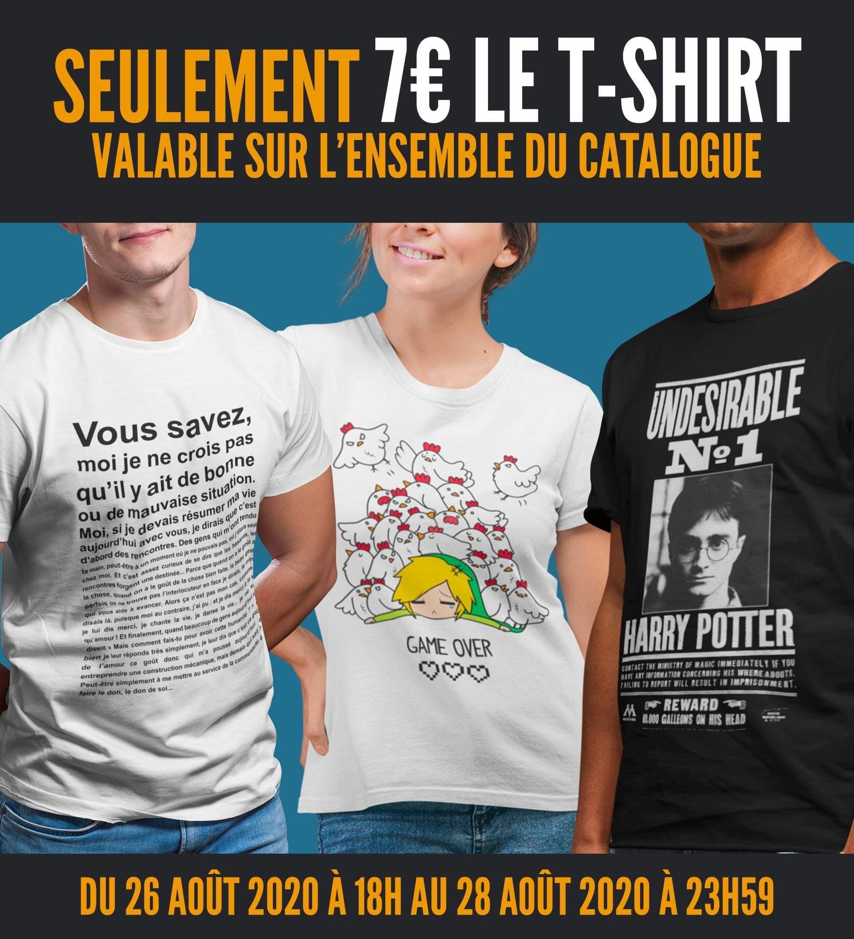 Sélection de T-shirts Geek à 7€
