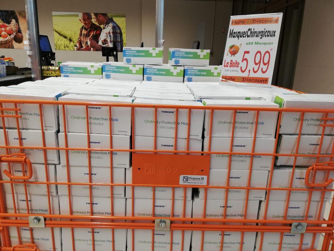 Boîte de 50 masques de protection (Non Médicaux) - Halle O Discount Lognes (77) / Noiseau (94)