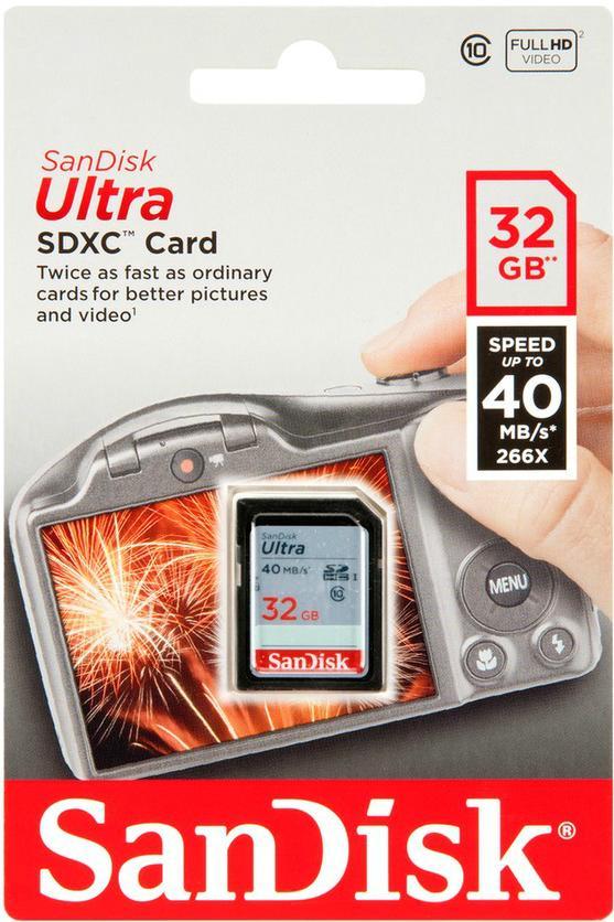 Carte mémoire Sandisk Ultra SDHC 32 Go