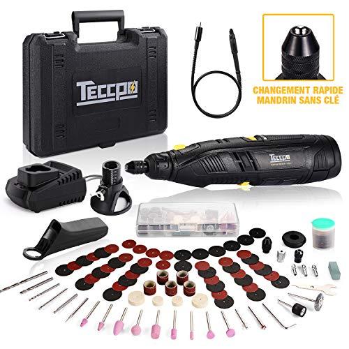 Outil rotatif multifonction sans-fil Teccpo TDRT03P - 12V, avec chargeur et accessoires (vendeur tiers)