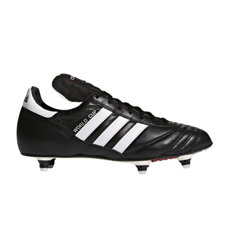 Chaussures de football à crampons vissées Adidas World Cup SG - noir (du 39 1/3 au 48 2/3)