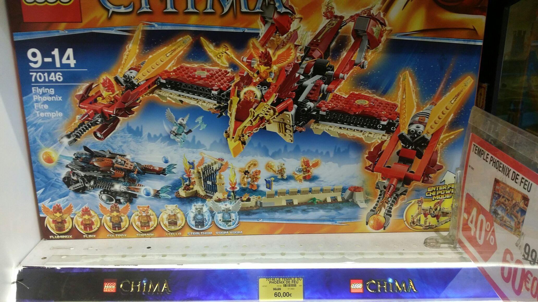 Lego chima 70146 Le temple du Phenix à 60€ (au lieu de 99,90€)