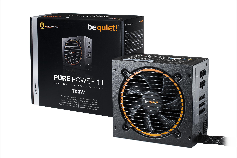 Alimentation semi-modulaire Be Quiet Pure Power 11 CM - 700 W, 80+ Gold