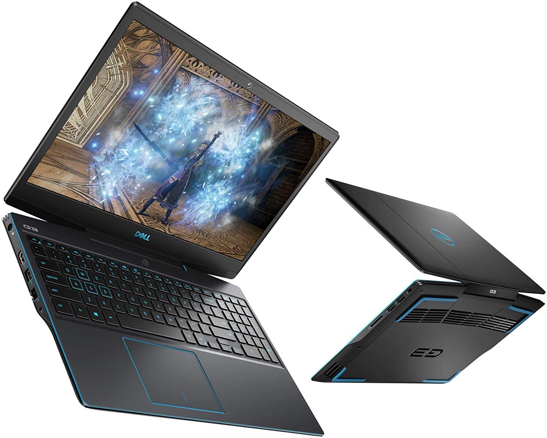 """PC Portable 15.6"""" Dell Inspiron G3 15 3590 - Full HD, i5-9300H, RAM 8 Go, 1 To + SSD 256 Go, GTX 1650 4 Go, Linux (Via ODR de 100€)"""