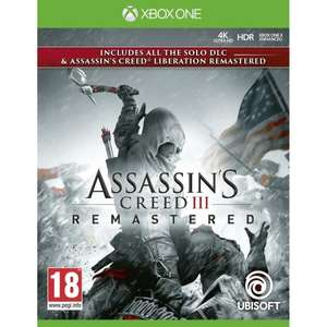 Assassin's Creed 3 : Remastered (avec Assassin's Creed: Liberation Remastered) sur Xbox One