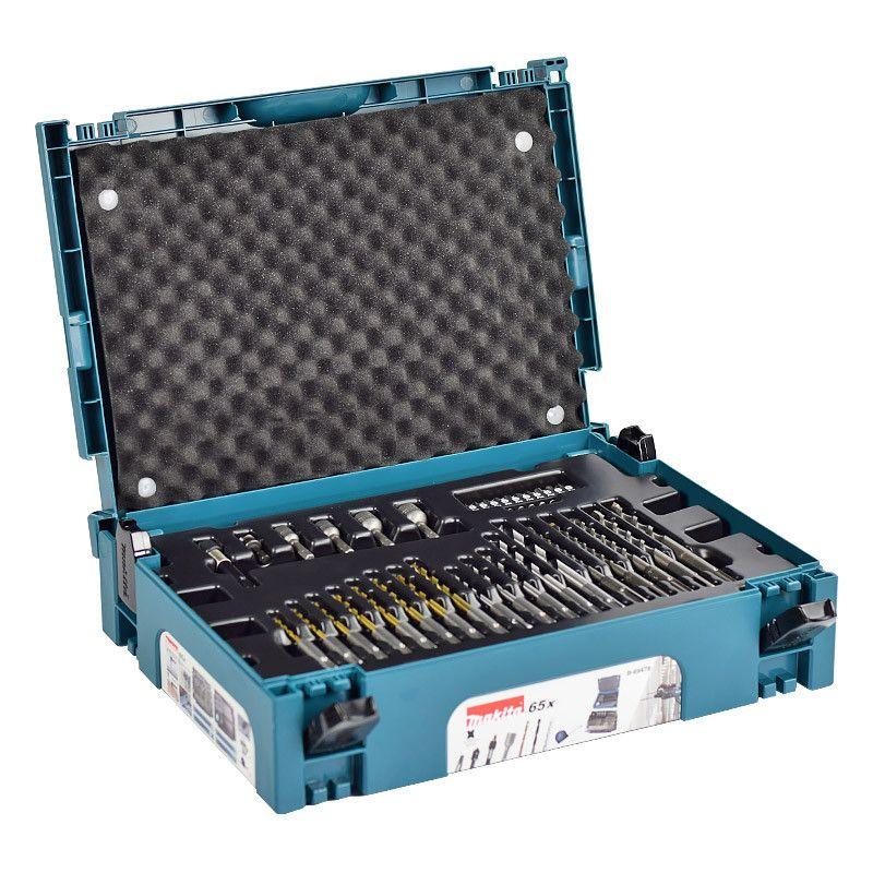 Assortiment Vissage-Perçage MAKITA B-69478 SDS Plus + Coffret Mak-Pak - 65 pièces pour perforateur