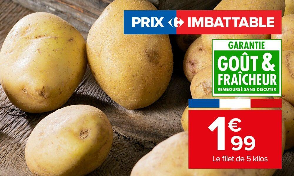 Filet de 5 kg de pommes de terre - Origine France, Catégorie 1