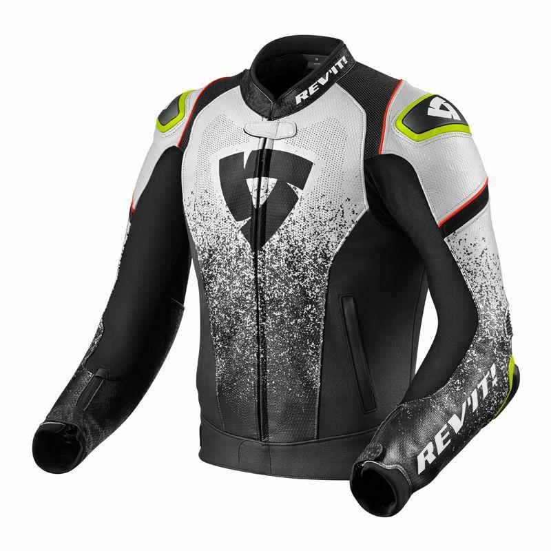 Blouson de moto en cuir Rev'it Quantum - Plusieurs coloris et tailles différentes