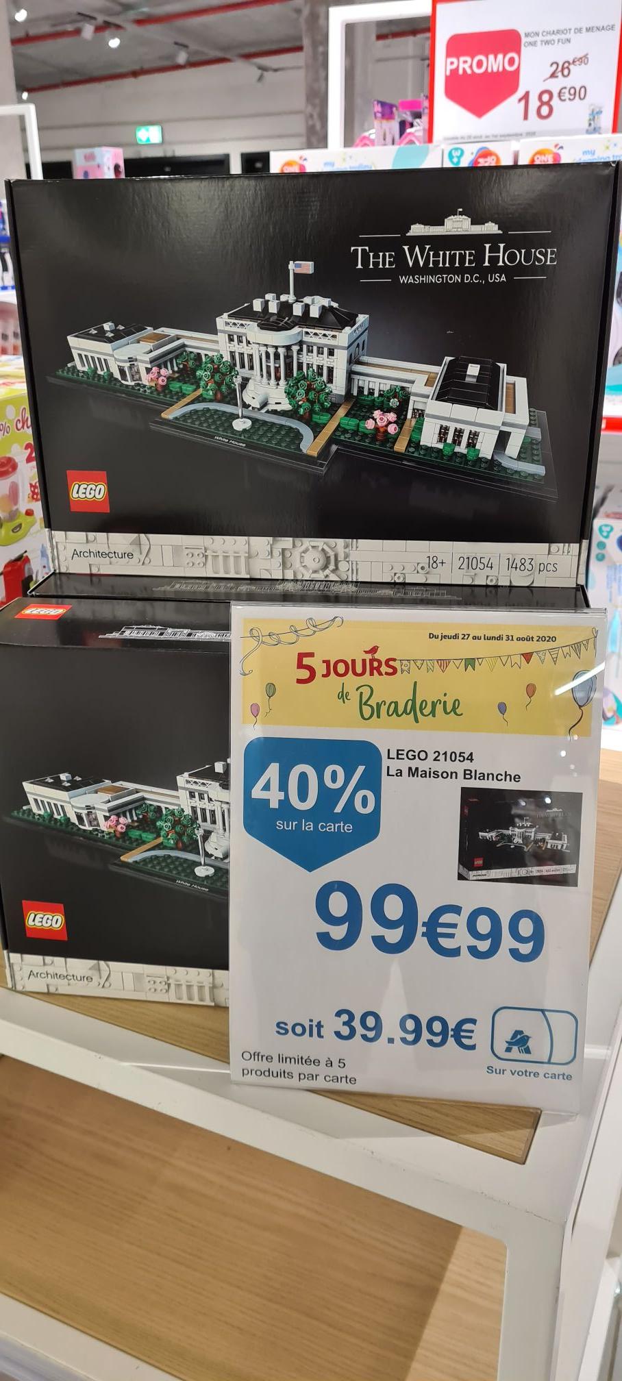 Jouet Lego Architecture - La Maison Blanche 21054 (via 39.99€ sur la carte de fidélité) - frontaliers Luxembourg