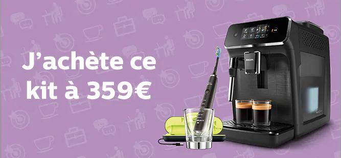 Pack Machine expresso à café avec broyeur EP2221/40 + Brosse à dent Sonicare diamondclean HX9359/89
