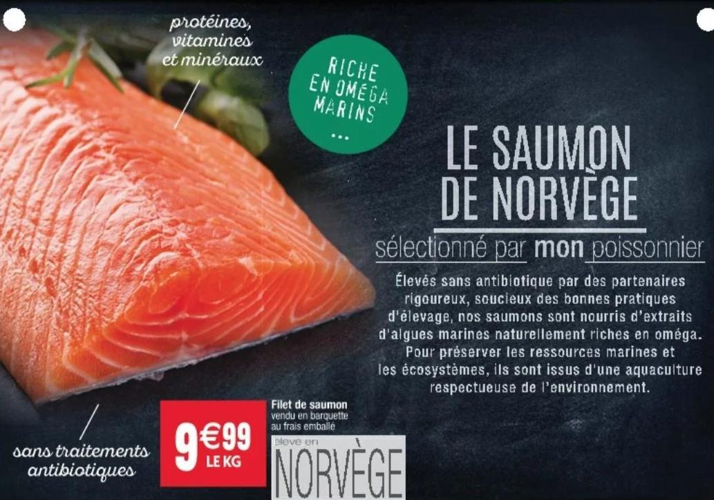 Saumon de Norvège - 1Kg