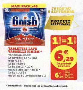 2 Packs de 45 Tablettes lave-vaisselle Finish Powerball All-in-One Max - Différentes Variétés