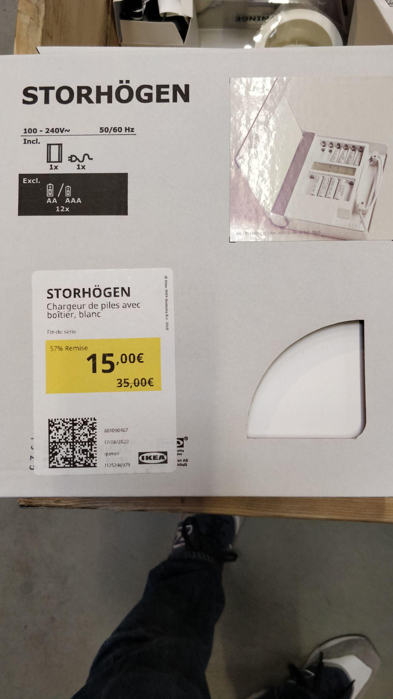 Chargeur de piles Storhogen - 12 Piles AA ou AAA (Orléans 45)