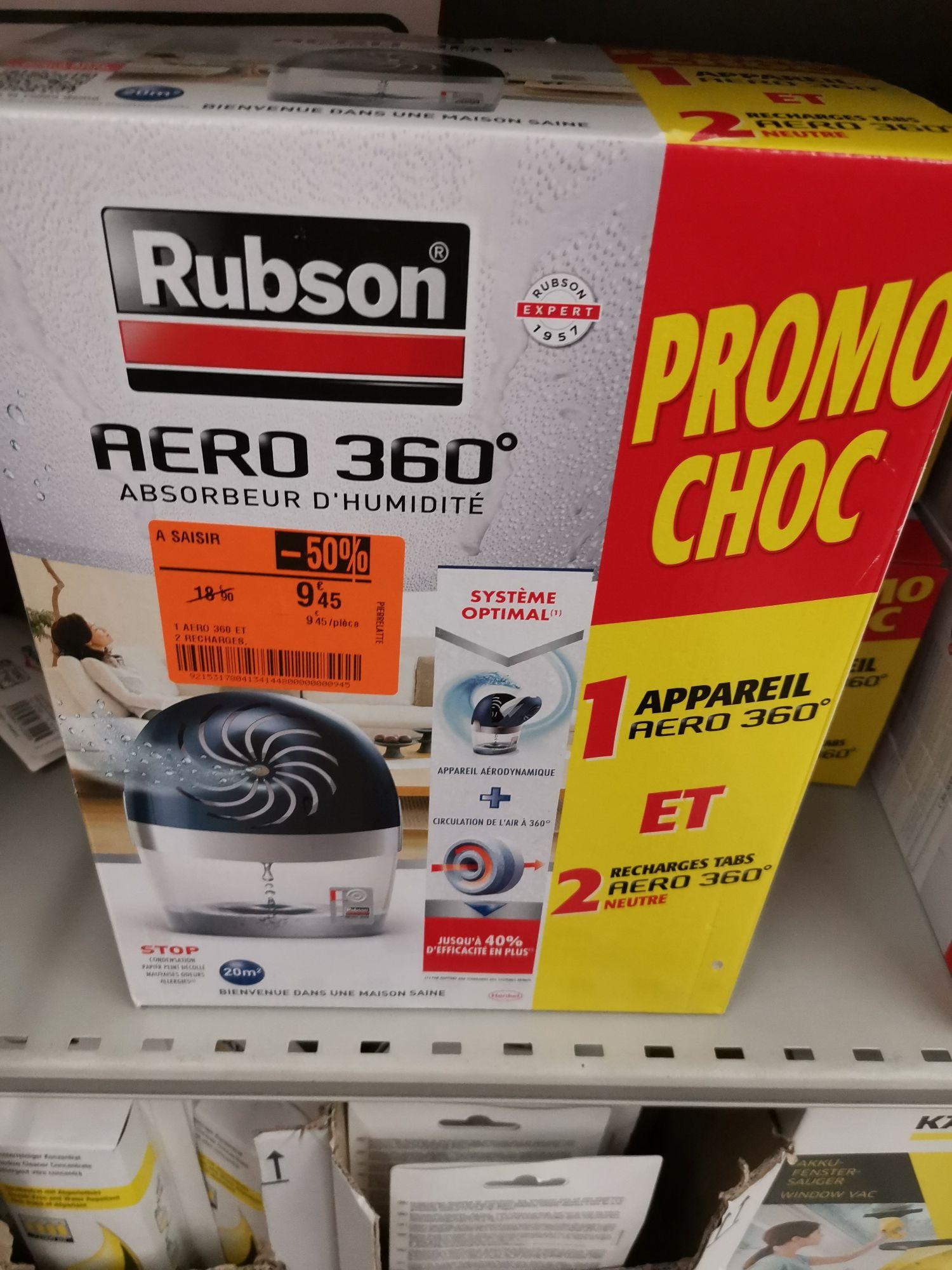 Absorbeur d'humidité Rubson Aero 360° + 2 recharges - Carrefour Pierrelatte (26)