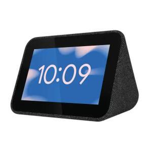 """Réveil connecté 4"""" Lenovo Smart Clock - Gris avec Google Assistant"""