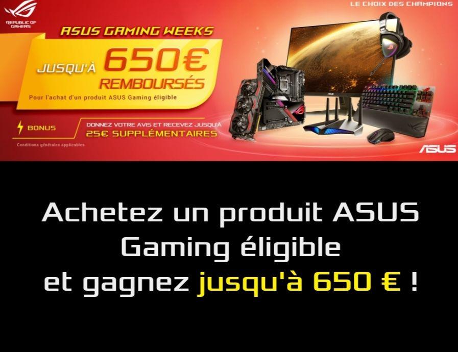 Sélection d'Offres de Remboursement - Ex: 40€ sur une carte mère Rog Strix B550-E Gaming (asus.com)
