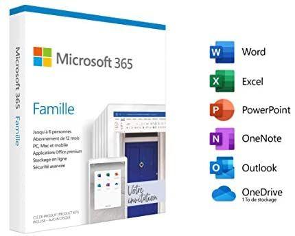 Licence 1 an Office 365 Famille - 6 utilisateurs (Dématérialisé)