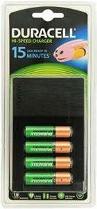 Chargeur Ultra Rapide Duracell 15 minutes + 4 piles 1500mAh