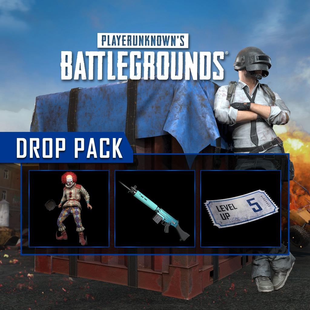 [PS+] Drop Pack PlayerUnknown's Battlegrounds (PUBG) Offert sur PS4 - Skin Clown Tueur + Skin Arme Battlestat + 5 Niveaux (Dématérialisés)