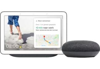 Enceinte connectée Google Nest Hub + Nest Mini, Anthracite (Frontaliers Belgique)