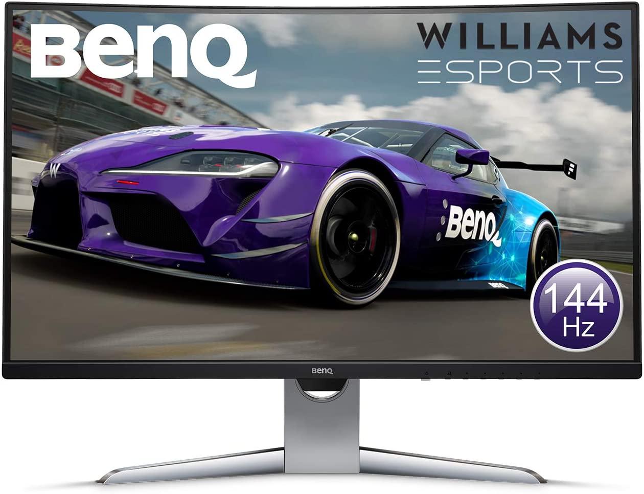 """Écran PC 32"""" BenQ EX3203R - Incurvé, 144Hz, VA, WQHD, FreeSync 2, Incurvé, HDR, USB-C"""