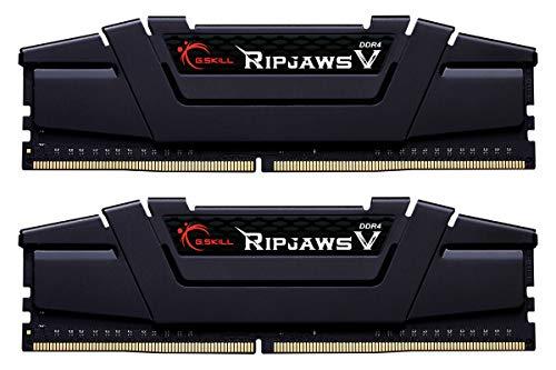 Kit mémoire RAM G.Skill Ripjaws V F4-3200C16D-32GVK - 32 Go (2 x 16 Go), 3200Mhz, C16
