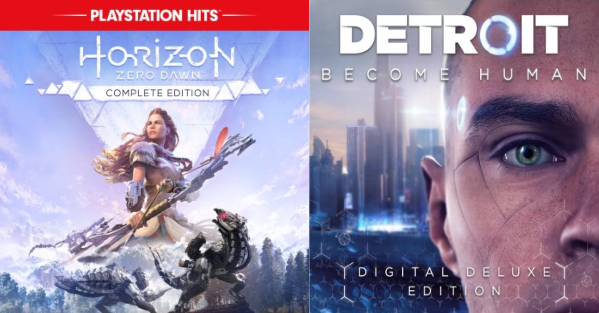 Horizon Zero Dawn Complete Edition ou Detroit: Become Human - Édition Deluxe numérique sur PS4 (Dématérialisés)