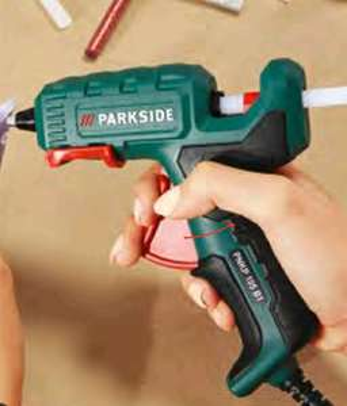 Pistolet à colle filaire basse température Parkside avec 6 bâtonnets