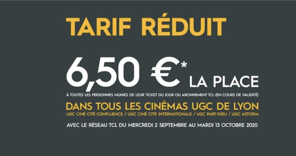 [Détenteur d'un ticket TCL] Place de cinéma à l'UGC Lyon (69)